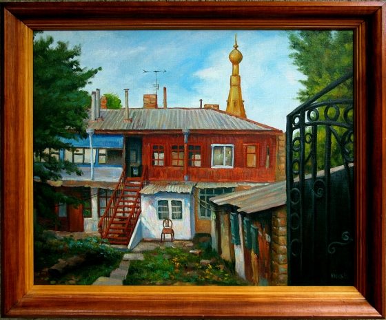 I will sell a picture Odessa courtyard 50x60cm.