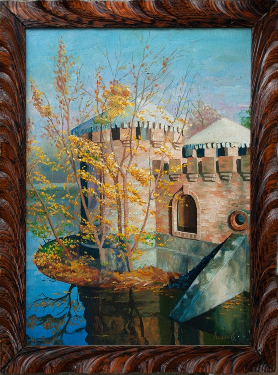 "Oil painting ""Autumn in Dyukovsky Park"" 48x36cm."